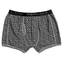 REPLIKA JEANS PRINTED FASHION TRUNKS  GREY MELANGE