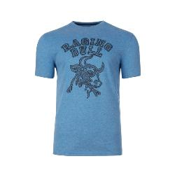 RAGING BULL TEE - Printed Crew neck Tee PAISLEY BULL HEAD DENIM BLUE 3 - 6XL
