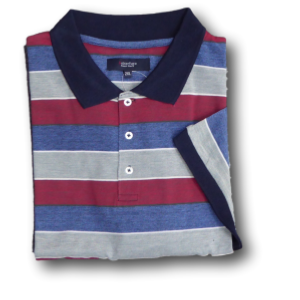 ESPIONAGE Subterfuge  Striped Polo