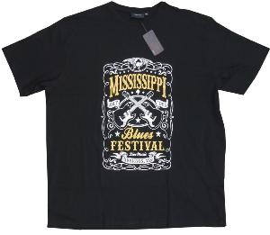 ESPIONAGE Cotton Tee 'MISSISSIPPI BLUES FESTIVAL' 3XL