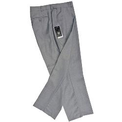 SKOPES Flat Front Wool blend Classic Trouser with Stretch Waist SILVER GREY