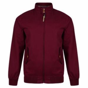 D555 Cotton Harrington Jacket BURGUNDY