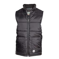 D555 LIGHTWEIGHT PADDED WAISTCOAT WITH TWIN LOWER POCKETS BLACK  3 - 8XL
