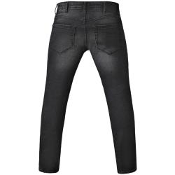 "SALE - D555 TAPERED FIT STRETCH JEANS DARK GREY STONEWASH 42 - 60"" S/R"