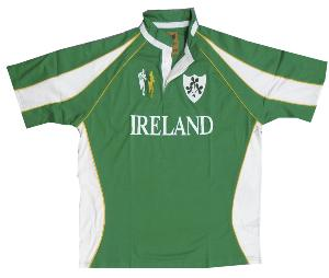 Louie James  'IRELAND' Short Sleeve Rugby shirt 2XL