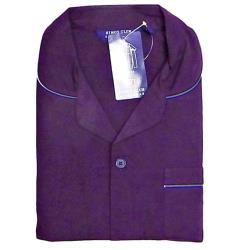 KINGS CLUB Plain Poly/Cotton Pyjamas AUBERGINE