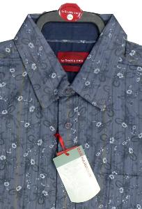 BAR HARBOUR Woven Cotton Shirt with small  Floral print detail