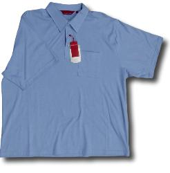 BAR HARBOUR Soft Touch Woven Polo  with Pocket BLUE