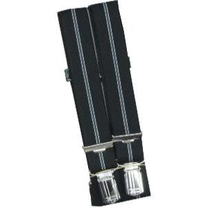 SPEICKER Long Braces BLACK/SILVER STRIPED