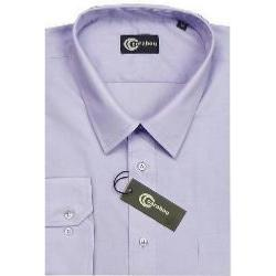 "CARABOU Easy Care Long Sleeve Plain Shirt LAVENDER 2XL (18-24"" Collar)"