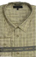 COUNTY TATTERSALL Brushed Check Shirt STRAW/BLUE/WINE (C) 2XL