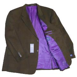 FABRIZIO Soft Cotton Sports Jacket EDMOND BROWN