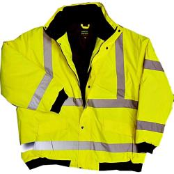BROOKLYN ESSENTIAL WORKWEAR HI-VIS QUILTED BOMBER STYLE COAT 3XL