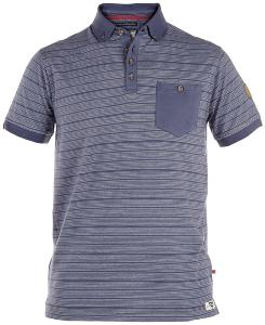 D555 Fine Stripe Soft polo shirt BLUE
