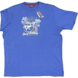 D555  Natural Cotton Tee shirt  SURF SEEKERS  (BLUE)