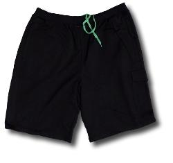 ESPIONAGE Cotton Cargo Jog Shorts BLACK
