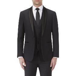 "SKOPES EVENING DRESS SUIT JACKET BLACK SHADOW CHECK NEWMAN 50 - 62"" CHEST"