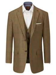 "SKOPES Wool Blend Check Jacket BROWN MONTROSE 62"" REGULAR"