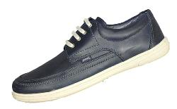 POD Casual Leather Lace Up HUDSON NAVY