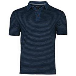 RAGING BULL Woven Stripe polo shirt INDIGO/NAVY 6XL