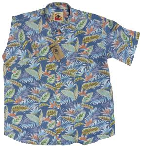 ESPIONAGE Palm Print Hawaiian Shirt 2XL