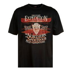 SALE - ESPIONAGE COTTON PRINTED TEE EXPEDITION SLATE GREY  2 - 7XL