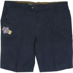 OAKMAN Comfort Stretch Sulpher Washed Cotton Shorts  NAVY