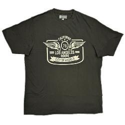 KAM COTTON CREW NECK PRINTED TEE  - LOS ANGELES RIDERS / MOTOR OIL  2-6XL