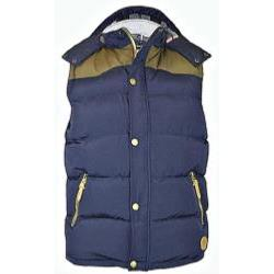 D555 Quilted Padded Bodywarmer with hood NAVY