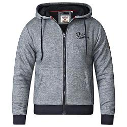 D555  SHERPA LINED FULL ZIP HOODY WILLIAM BLACK