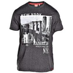 D555 Melange Tee shirt MANHATTAN CHARCOAL 4-8XL