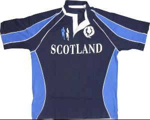 SCOTLAND'  Short Sleeve Rugby shirt 2XL