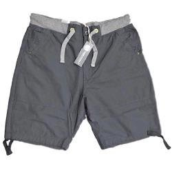 KAM Comfort fit Casual Shorts with Stretch waistband CHARCOAL