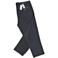 ED BAXTER Flat Front Chino with comfort FLEX waistband BLACK