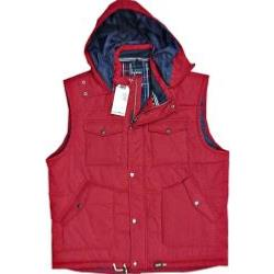 RAGING BULL Quilted Hooded Gillet RED 4XL