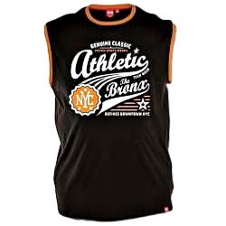 D555 Athletic Print Sleeveless T-Shirt JOVAN BLACK 3 - 4XL