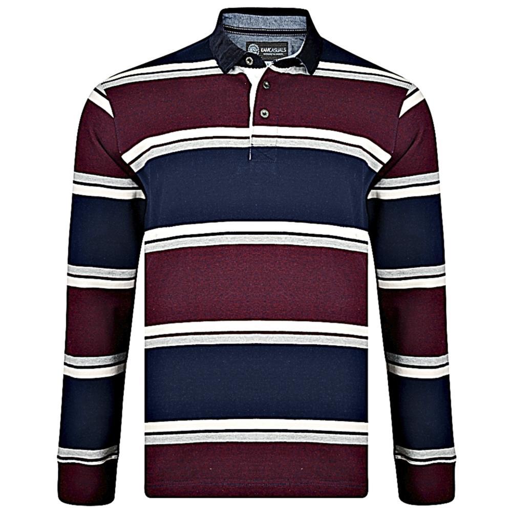 643195942 big mens Kam long sleeve polo shirt - bigmenonline - large mens clothing
