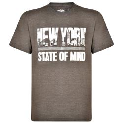 NEW - KAM NEW YORK PRINT COTTON T-SHIRT CHARCOAL 2 - 8XL