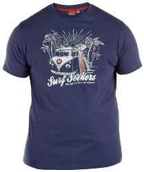 D555  Natural Cotton Tee shirt  SURF SEEKERS  (NAVY)