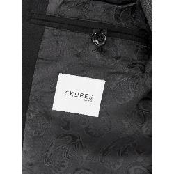 SKOPES Wool Rich Classic Crombie Over Coat BAKER BLACK 3 - 6XL