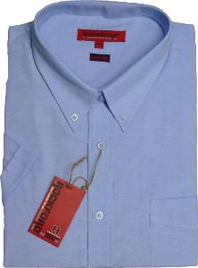 ROCKFORD Short Sleeve Cotton Rich OXFORD Shirt  BLUE 8XL