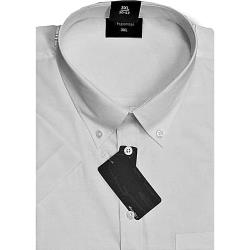 ESPIONAGE Cotton rich Short Sleeve shirt WHITE 2 - 8XL