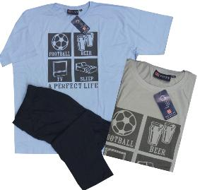 KINGS CLUB  Sleepwear Long Leg / Tee shirt  Sleepwear  A PERFECT LIFE GREY 2XL