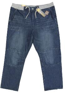 KAM Relaxed fit Jeans with Soft Jersey  stretch waistband  DELROY