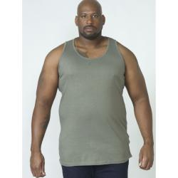 D555 BIG MENS MUSCLE VEST FABIO KHAKI