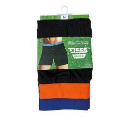 D555 Twin Pack Cotton Boxers with  Elastane Contrast waistband RANGER  2 - 6XL