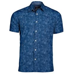 RAGING BULL  SHORT SLEEVE HIBISCUS SHIRT NAVY 3 - 6XL