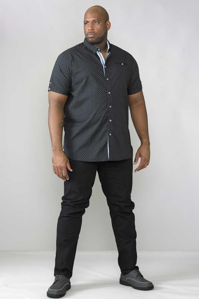 Mens Quality Big//Tall Short Sleeve Geometric Print Shirt 3XL 6XL