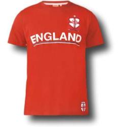 D555 England Football Shirt RED 3-5XL