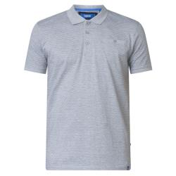 D555  PURE COTTON  POLO WITH ALL OVER PRINT AND CHEST POCKET ELIJAH 4XL